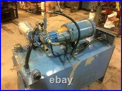 10HP HYDRAULIC POWER UNIT WithVICKERS PVQ45 PUMP ON AN 80 gal. RESERVIOR