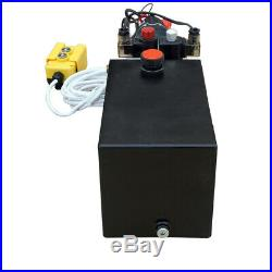 10L Double Acting Hydraulic Power Unit 12V Trailer Up-Down Remote Controller