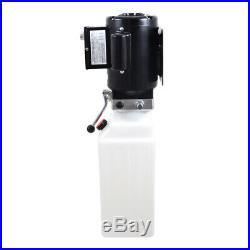 10L Single Acting Hydraulic Pump Dump Trailer 220V Car Lift Hydraulic Power Unit