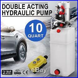 10 Quart Double Acting Hydraulic Pump Dump Trailer Power Unit Crane Unloading
