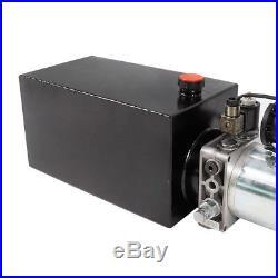 10 Quart Hydraulic Power Unit Pump 12V Single Acting Dump Trailer Control Lift