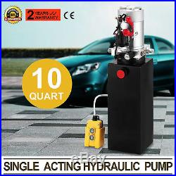 10 Quart Single Acting Hydraulic Pump Dump Trailer Car Power Unit Repair