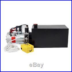 10 Quart Tank Dump Trailer Hydraulic Power Pack Pump Single Acting Control Unit
