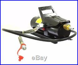 10 TON 10,000 PSI Porta Power AIR HYDRAULIC FOOT PUMP CONTROL LIFT With 6ft HOSE