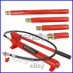 10 Ton Hydraulic Jack Air Pump Lift Porta Power Ram Repair Tool Kit Set