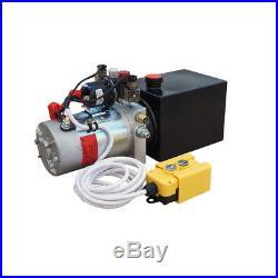 12V 3 Quart Tank Double Acting Hydraulic Pump Power Supply Pack Unloading Crane