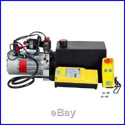 12V 6 Quart Tank Double Acting Hydraulic Pump Power Unit Wireless Controller