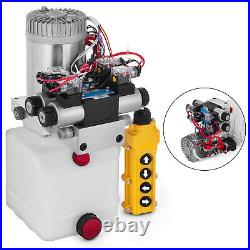 12V DC Double Acting Double Solenoid Hydraulic Power Pack 4.5L Tank ZZ004234