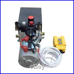 12V Hydraulic Pump Power Unit Dump Trailer with 3 Quart Translucent Reservoir