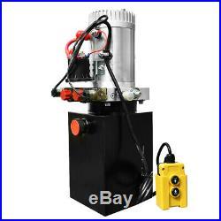 12V Volt Hydraulic Pump for Dump Trailer 6 Quart Power Unit Pack 3200 PSI US