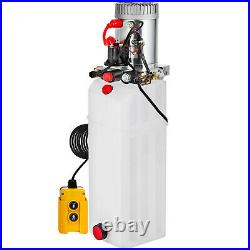 12 Quart Double Acting Hydraulic Pump Dump Trailer Power Unit 12V Lifting