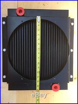 14x13 Hydraulic Power Plus 12Volt Oil Cooler with Rear Facing Inlet and Outlet