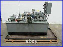 15Hp 100 Gallon Power Unit Assembly WithHeat Exchanger & Valves 460V 3Ph