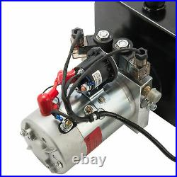 15 Quart Double Acting Hydraulic Pump Dump Trailer Power Unit Dump Truck DC 12V