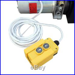 1600W 12V 6 Quart Single Acting Hydraulic Power Pump Unit Cylinder Dump Trailer
