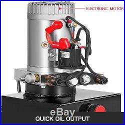 20 Quart Double Acting Hydraulic Pump Dump Trailer Power Unit Unit Pack Iron