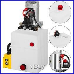 20 Quart Double Acting Hydraulic Pump Dump Trailer Unloading 12V Power Unit