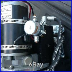 24volt D. C. Hydraulic power unit double acting with hand pump back-up
