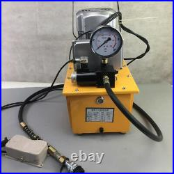 2Stage Single Acting Electric Hydraulic Pump Power Pack 110v 10k PSI Pedal Valve