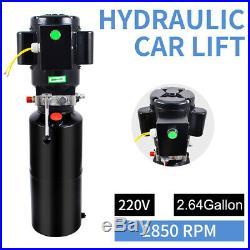 2.64 gal Single Acting Hydraulic Pump Hydraulic Power Pack Dump Trailer Car 220V