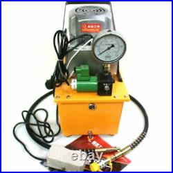 2 Stage Electric Hydraulic Pump Power Pack Single Acting 10k PSI Solenoid Valve