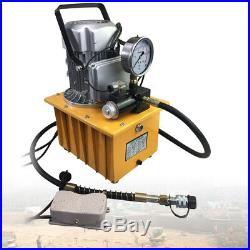 2 Stage Single Acting Electric Hydraulic Pump Power Pack 110v 10k PSI Hydraulic