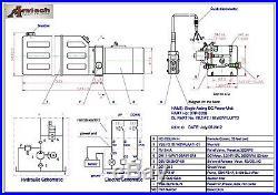 3206C Hydraulic Power Unit, Hydraulic Pump, 12V Single Acting, 6Qt, Dump Trailer