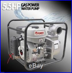 380GPM Gas Power 3 5.5 HP Trash Water Pump Drain 380 Flood Irrigation EPA