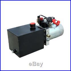 3 Quart 12V Double Acting Hydraulic Pump Power Unit Dump Trailer Metal Reservoir