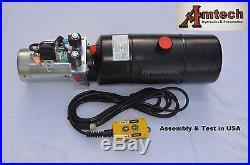 4206C Hydraulic Power Unit, Hydraulic Pump, 12V Double Acting, 6Qt, Dump Trailer