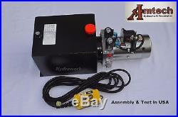 4210S Hydraulic Power Unit, Hydraulic Pump 12V Double Acting, 10Qt, Dump Trailer