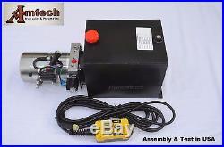 4215S Hydraulic Power Unit, Hydraulic Pump, 12V Double Acting, 15Qt, Dump Trailer