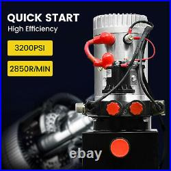4 Quart Double Acting Hydraulic Pump Dump Power Unit Trailer Car Lift Vehicle