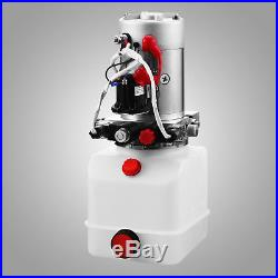 4 Quart Double Acting Hydraulic Pump Dump Trailer 12V Power Unit Unloading