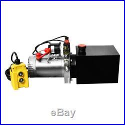 4 Quart Double Acting Hydraulic Pump Dump Trailer 12V Unit Pack Power Unit
