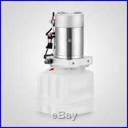 4 Quart Single Acting Hydraulic Pump Dump Trailer Power Unit Car Lift Lifting