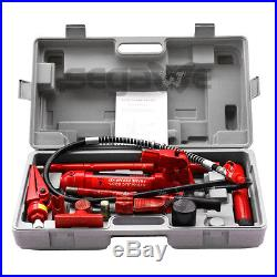 4 Ton Hydraulic Jack Air Pump Lift Porta Power Ram Repair Tool Kit Set
