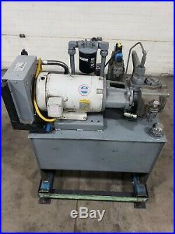 50 Gallon Hydraulic Power Unit 10hp 3 Phase 22.5 Gpm 3000 Psi Vane Pump #908CG