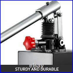 5L Double Acting Hydraulic Power Hand Pump Lift Unloading Reservoir