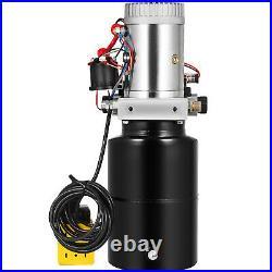 6L Single Solenoid Double Acting Hydraulic Pump Crane Trailer Power Unit
