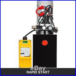 6 Quart Double Acting Hydraulic Pump Remote Control Reservoir Power Unit 12V