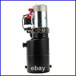 6 Quart Single Acting Hydraulic Pump 12V Hydraulic Power Unit Dump Trailer