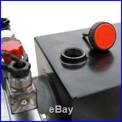 8 Quart DC 12V Hydraulic Pump Power Supply Unit Pack Double Acting Dump Trailer