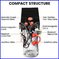 8-Quart High Flow Double-Acting Hydraulic Pump Power Unit Dump Trailer Metal