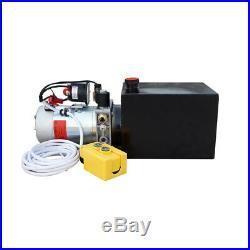 8 Quart Single Acting Hydraulic Pump 12V Power Unit 3200 PSI + Remote Controller