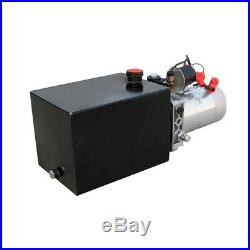 8 Quart Single Acting Hydraulic Pump 12V Power Unit 3200 PSI + Remote Controller
