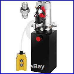 8 Quart Single Acting Hydraulic Pump Hydraulic Power Unit Trailer Car Lift 12V