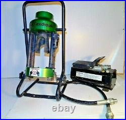 AC100P Hydraulic Portable Hose Crimper with Air-Powered Pump with 2 Dies See PICS