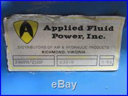 APPLIED FLUID POWER 30GPM 25HP Hydraulic Power Unit 3000PSI 133 Gal. Tank Tested