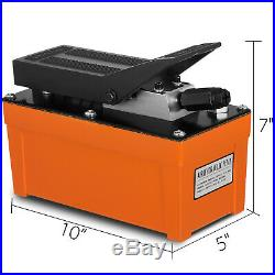 Air Powered Hydraulic Pump 10,000 PSI Foot Pedal Hydraulic Release Pressure